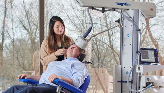 Transcranial Magnetic Stimulation - photo courtesy of Magstim